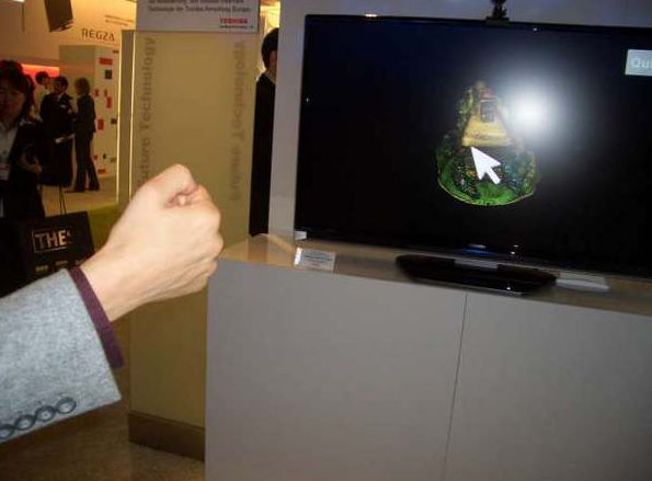 Gesture-controlled television