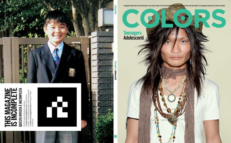 Cover and Backcover, Colors 76 / Teenagers by Kenzaburo Fukuhara, Tokyo
