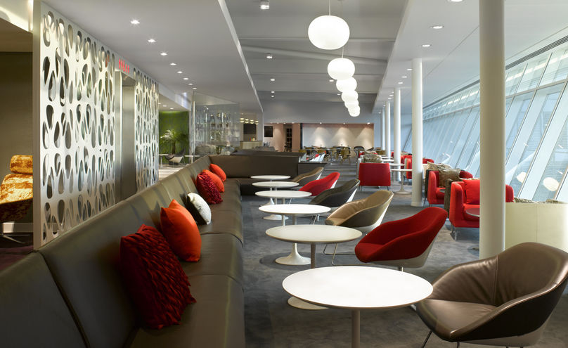 The new Virgin Atlantic Upper Class lounge by FDArchitects