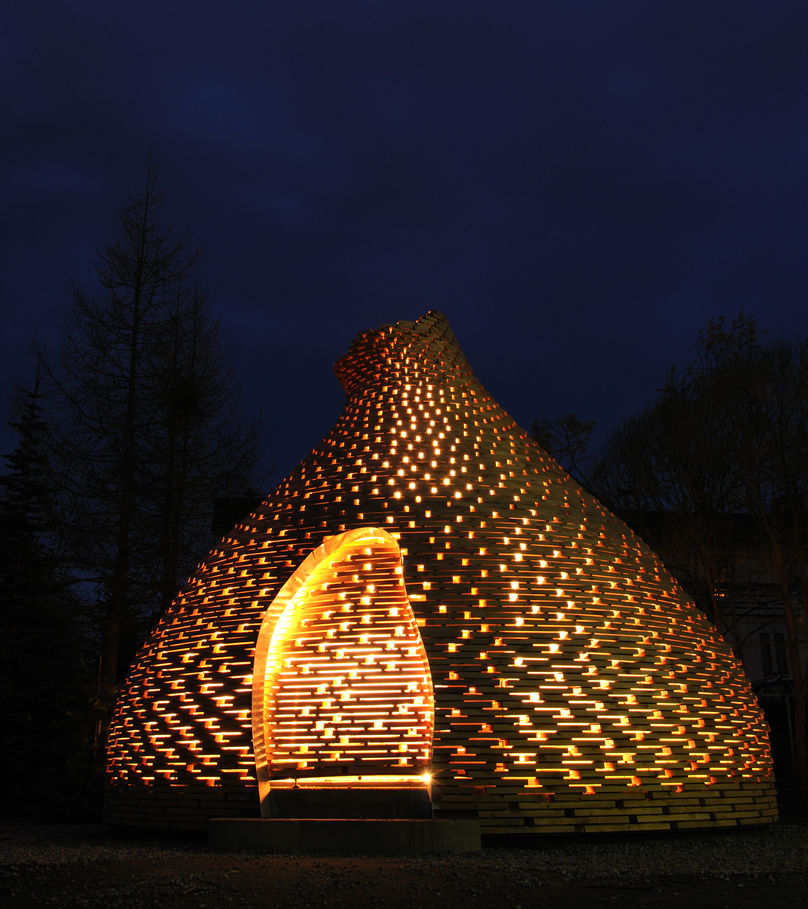 Outdoor fireplace by Haugen Zohar Architects, Trondheim