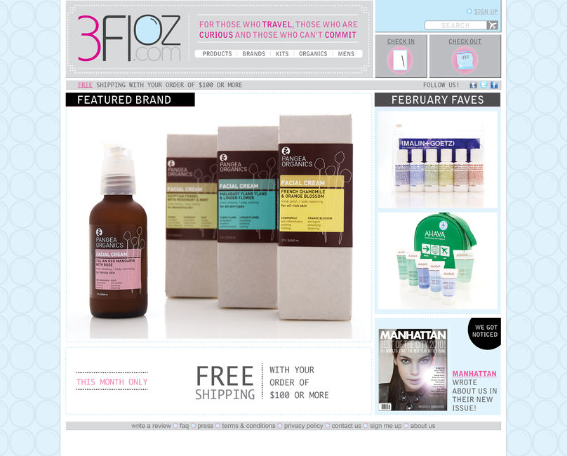 Homepage, 3floz.com