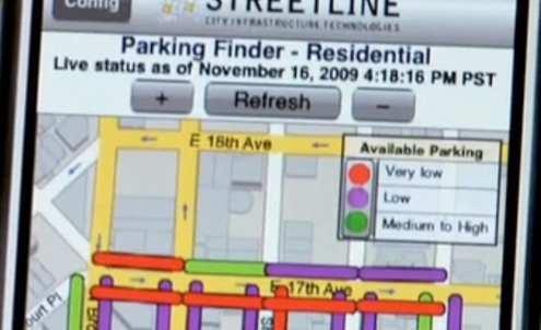 Smartphones ease the stress of finding parking spaces