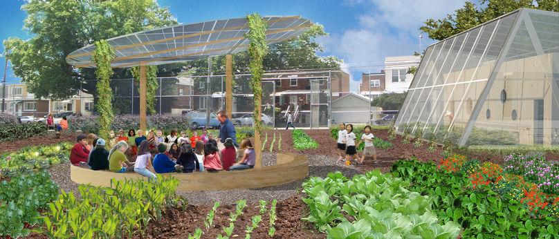 Summer community table, Edible Schoolyard, ESYNY, New York