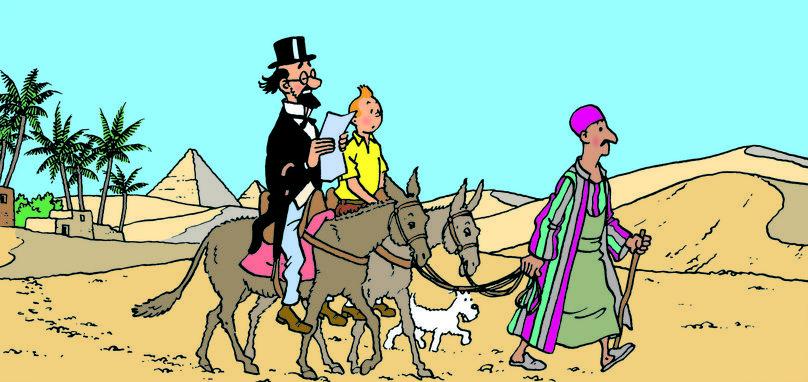Tintin in Egypt by Herge, Belgium