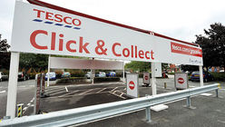 Click and collect with Tesco's drive-through