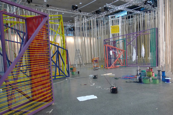 Campaign and The Future Laboratory setting up at Heimtextil, Frankfurt