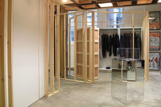 Construction Interrupted by Rei Kawakubo for Dover Street Market