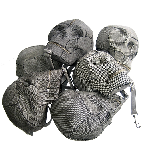 Shiva bags from the collection When Football Hooligans Became Hindu Gods by Aitor Throup