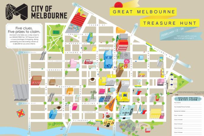 Great Melbourne Treasure Hunt Map