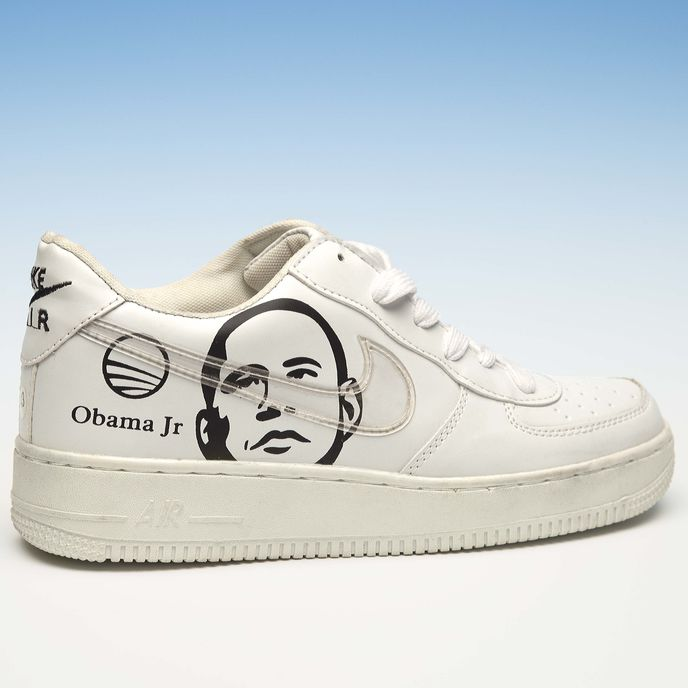 Counterfeit Nike Obama trainers, Shanzai Anxiety by Dis Magazine and Item Idem, photography by Marco Roso