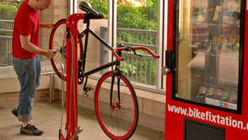 Quick fit: Bike kiosk helps cyclists in a fix