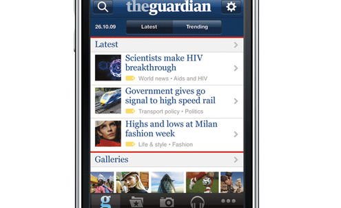 Guardian web page is music to readers' ears