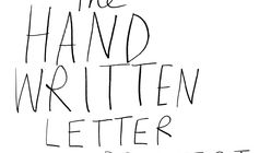 Open letter: Spreading the hand-written word
