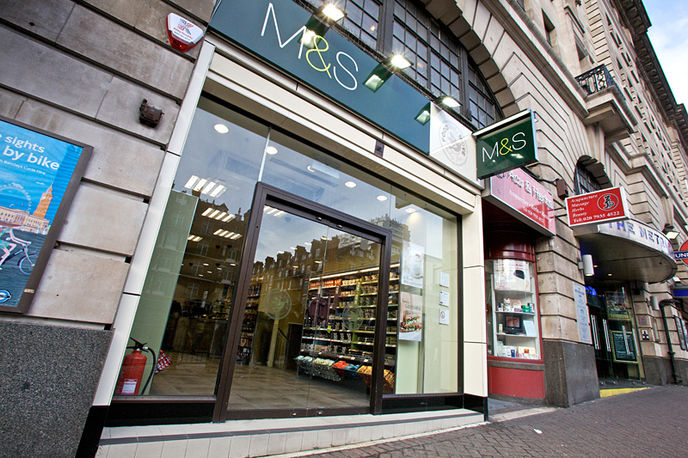 Marks and Spencers  convenience food store