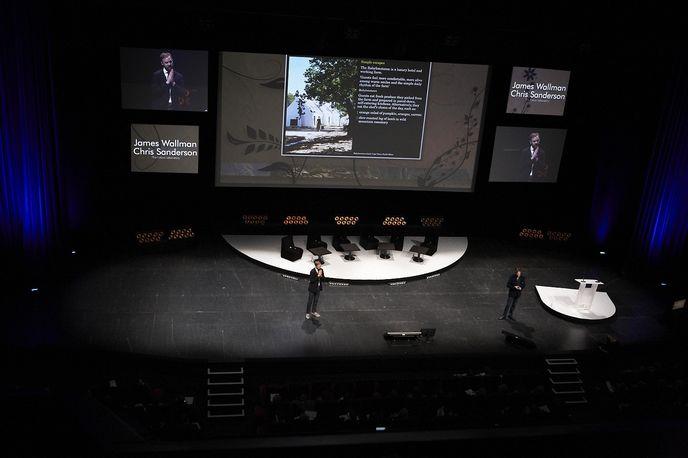 James Wallman and Chris Sanderson presenting at the ILTM