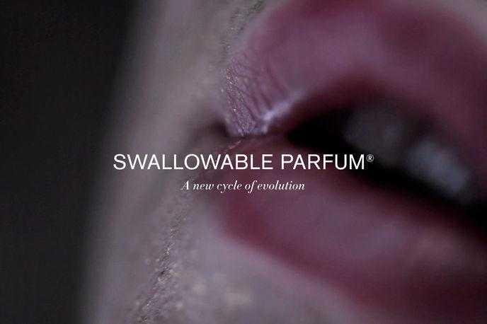 Swallowable perfume