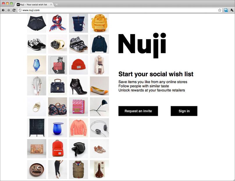 Nuji homepage