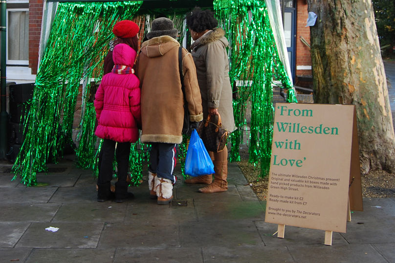 From Willesden with Love, a system to encourage local passersby to visit the rich variety of the shops that line their high street