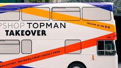 All aboard: Topshop bus on tour in Melbourne