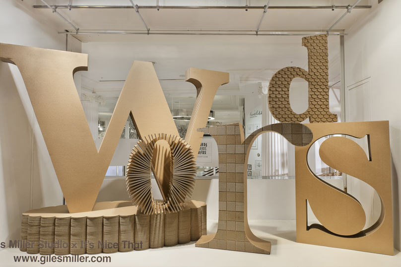 Words Words Words window displays by It's Nice That at Selfridges, photography by Andrew Meredith