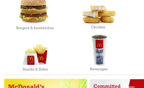 Healthy choice is the order of the day at McDonald's