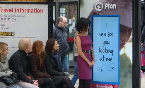 Bus stop charity ad campaign is gender-specific