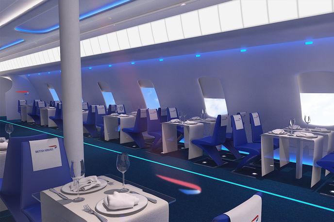 Flight BA2012 restaurant