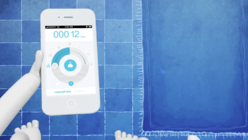 Shower screen: App drowns out bathroom sounds