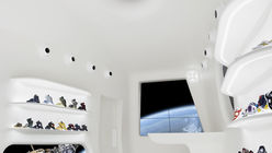 Out of this world: Shoe brand shows space craft