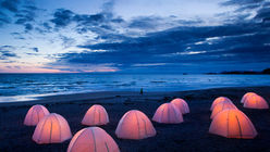 Peace pitch: Glowing tents are a guiding light