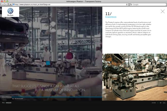 Volkswagen Phaeton website