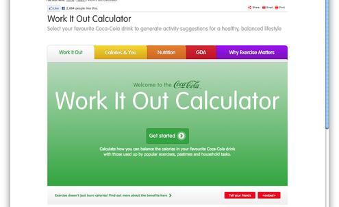 Coca-Cola shows activity needed to burn calories
