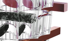 Layered look: Baccarat vase is deconstructed