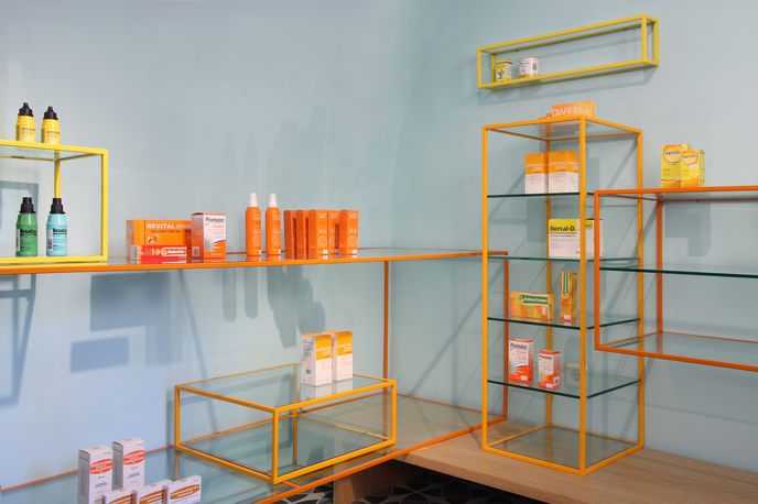 De Los Austrias pharmacy by Stone Designs