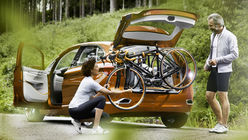 On your bike: BMW concept car hits the road