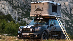 Rooftop camping: Mini launches on-car tent