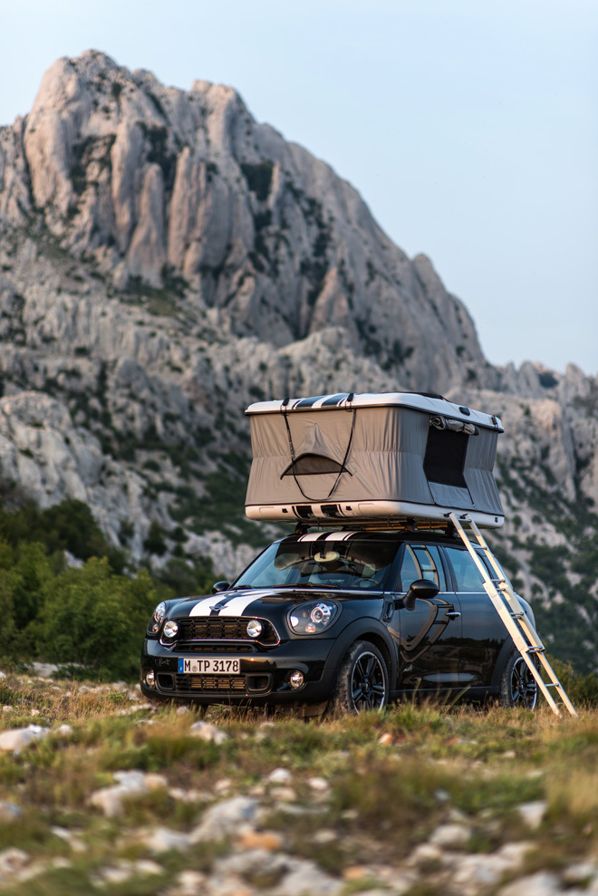 The Mini C& is a pop-up tent that sleeps two and fits on top of the caru0027s roof. & LSN : News : Rooftop camping: Mini launches on-car tent