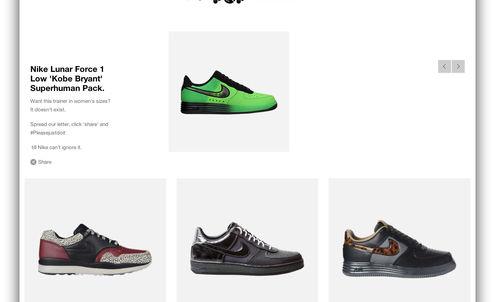 Reebok steps into Nike trainers campaign