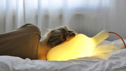 Warm glow: Malleable light doubles as a pillow