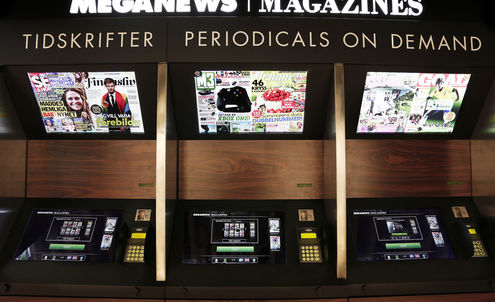 Newsstand Kiosk Prints Glossy Magazines On-Demand