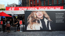 H&M previews Paris runway collection with pop-up tent