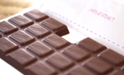 Chocolate brand makes the product the message