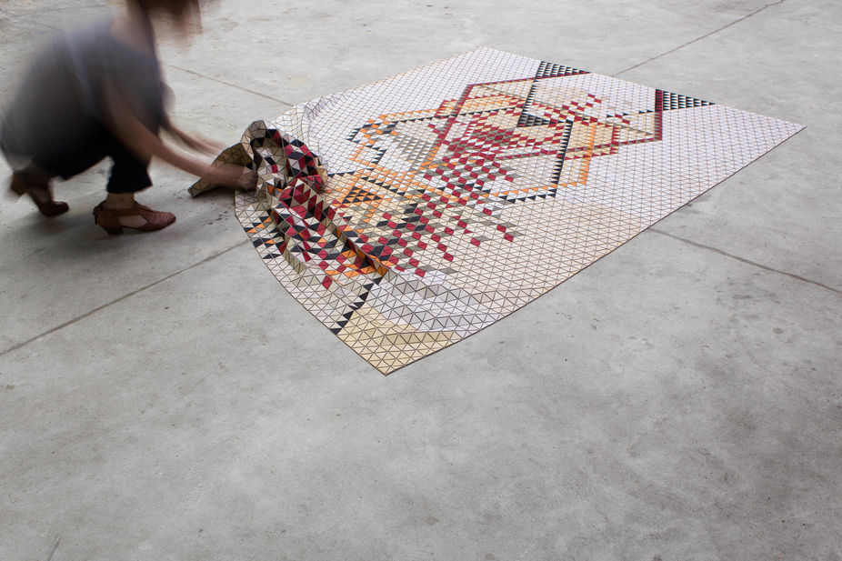 Lsn News Wood Work Coloured Rugs Double As Diy Sculptures