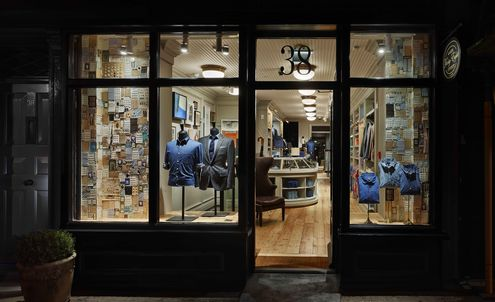 Menswear brands open shops with stories to tell