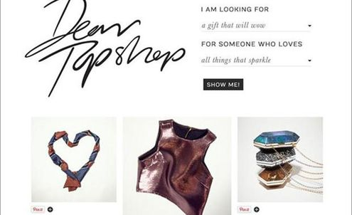 Topshop works with Pinterest on holiday campaign