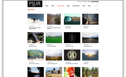Poler curates camping products by adventure