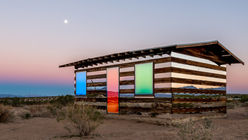 Light house: An optical illusion in the desert