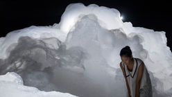 Foam-scape: Artist creates ephemeral exhibition
