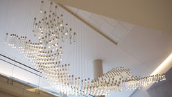 Light of the world: Chandelier acts as data map