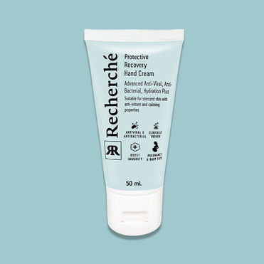 Anti-viral hand cream for sanitised skin